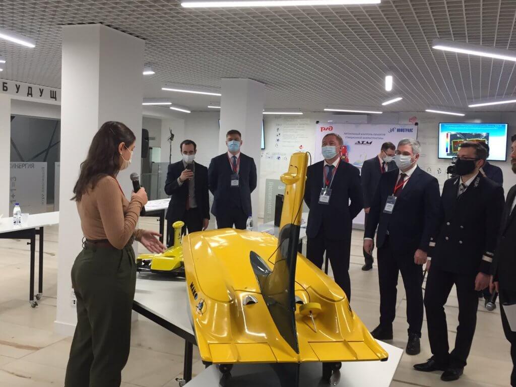 Глайдерон показали на церемонии открытия региональной инновационной площадки Куйбышевской железной дороги